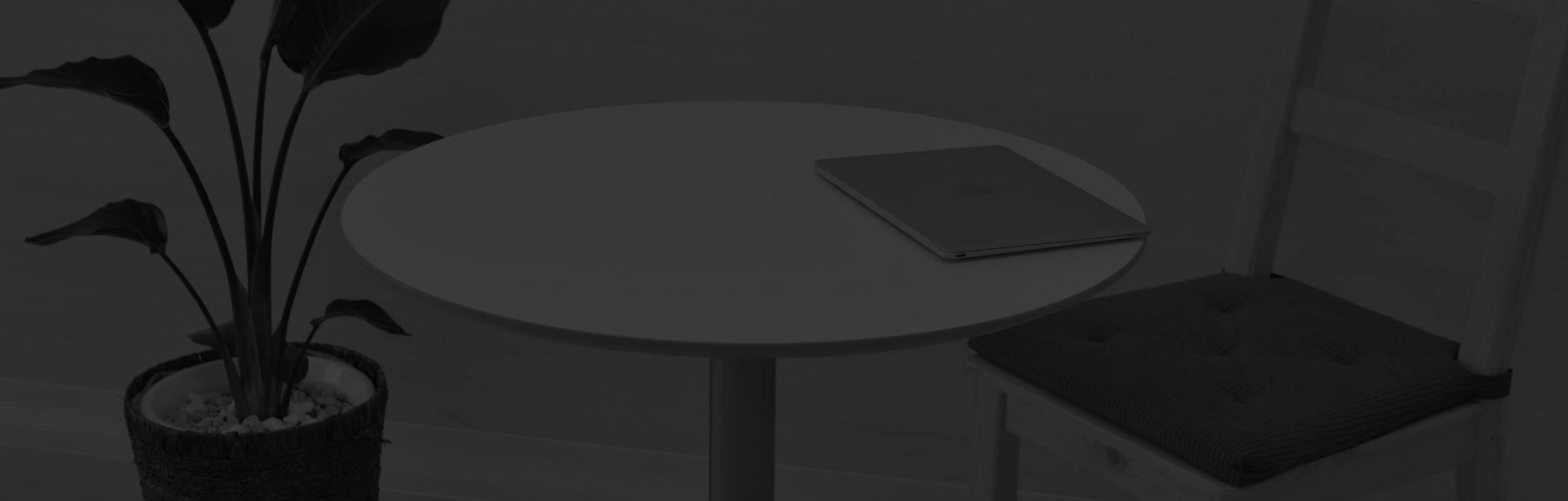 stôl, stolička, rastlina