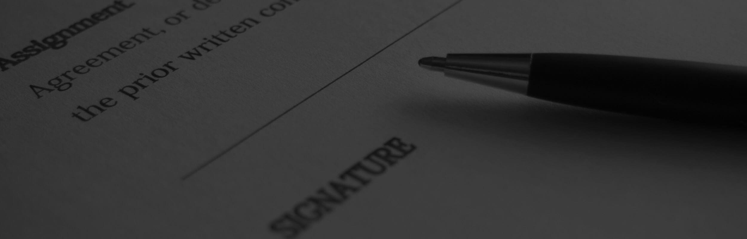 pero položené na zmluve