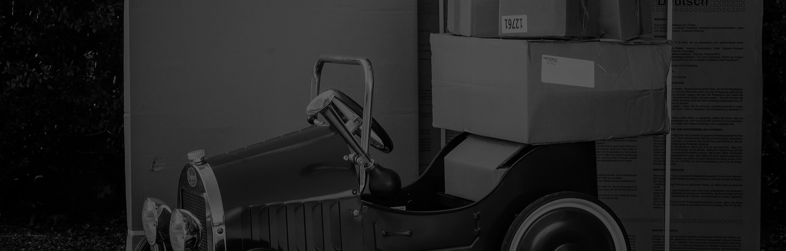 balíky na vozidle