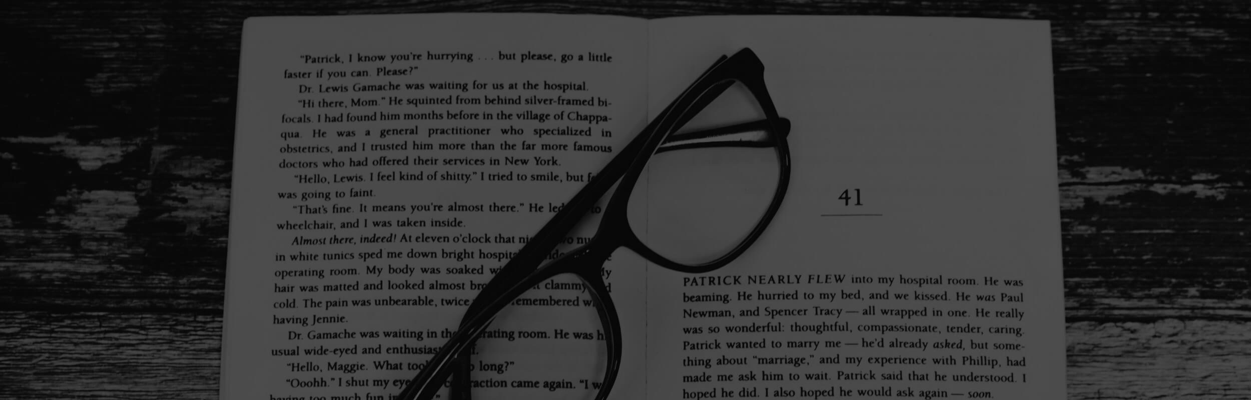 okuliare na knihe