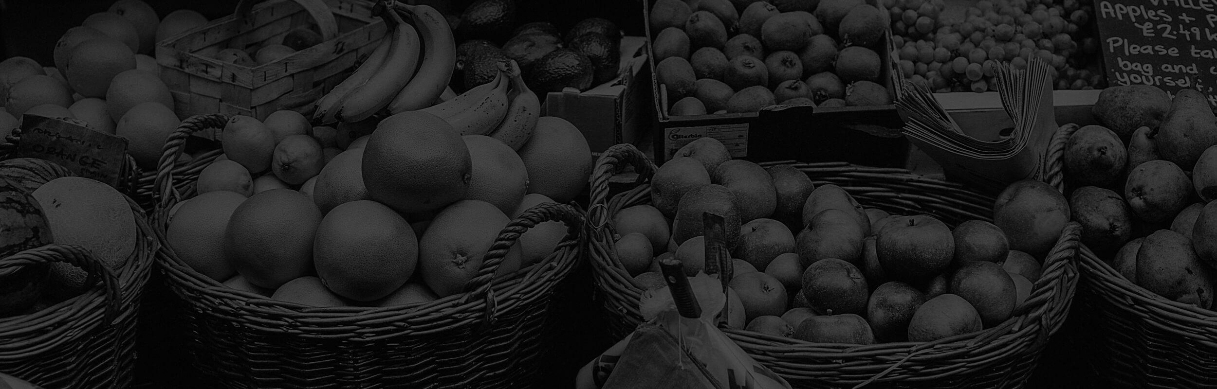 ovocie na trhovisku