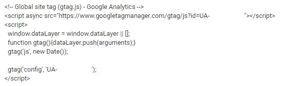 Snippet Google Analytics
