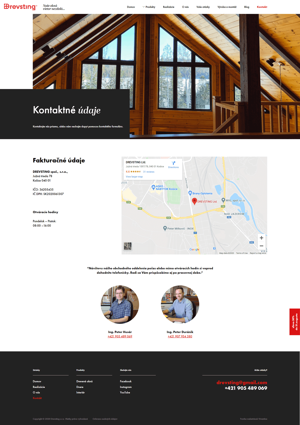 drevsting contact page design