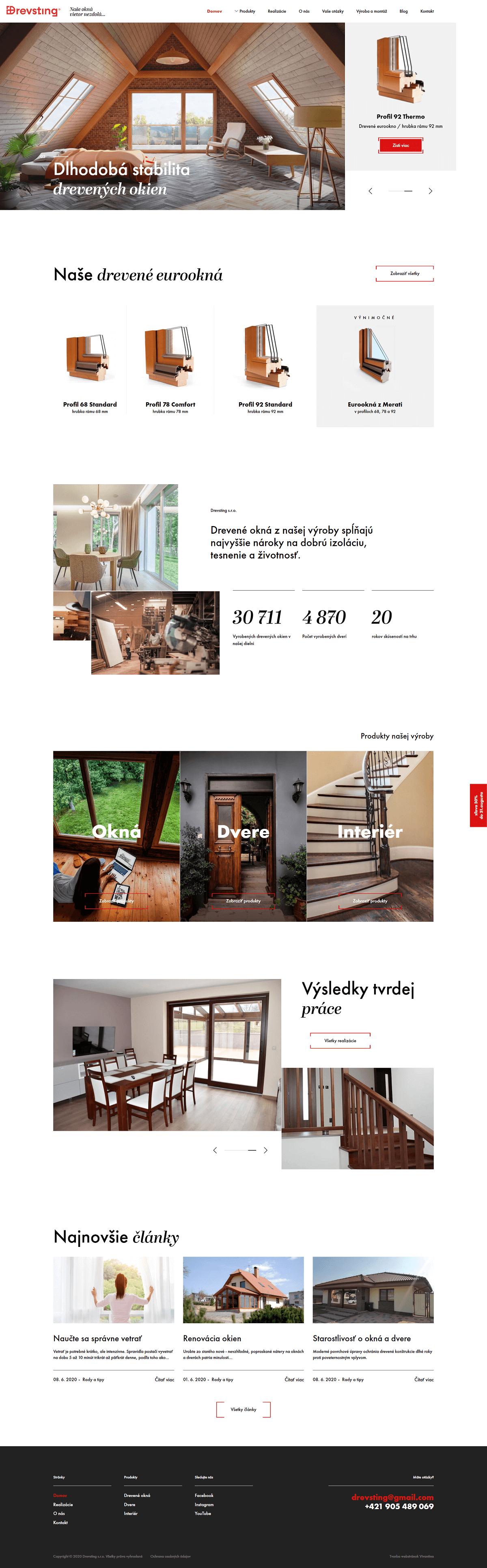 drevsting main page design