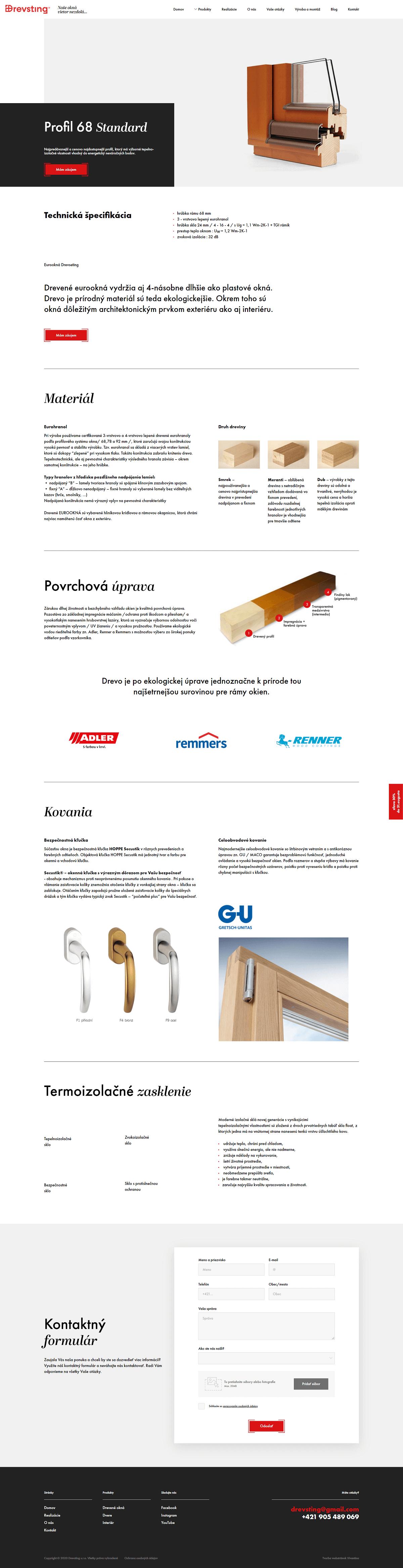 drevsting product page design