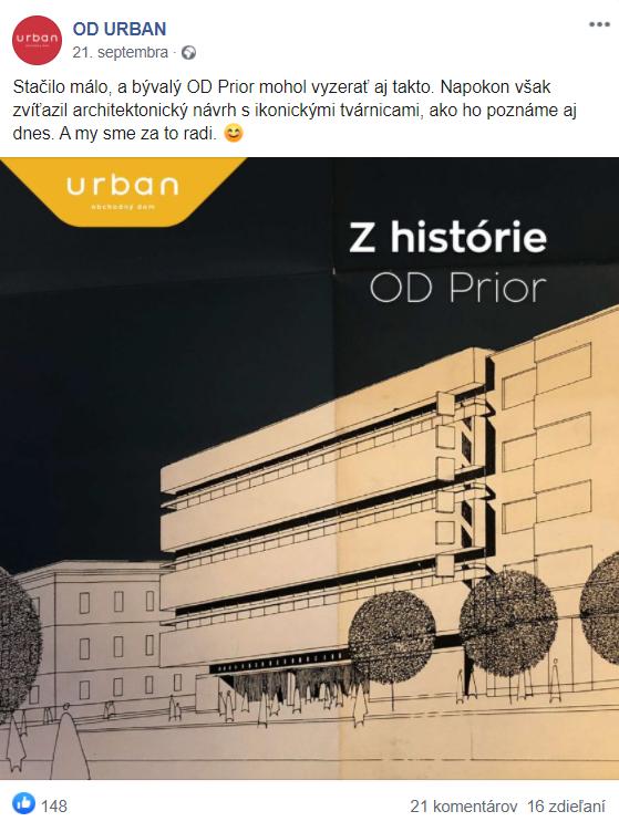 OD URBAN post z histórie