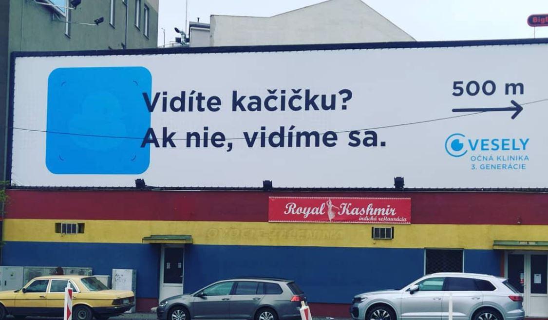 Billboard pre očnú kliniku
